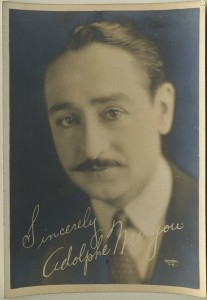 Adolphe Menjou fan photo links to Menjou Index Page