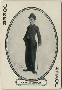 Charlie Chaplin 1916 MJ Moriarty Playing Card