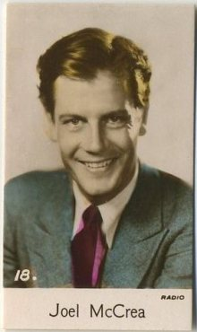 Joel McCrea 1935 Bridgewater Trading Card