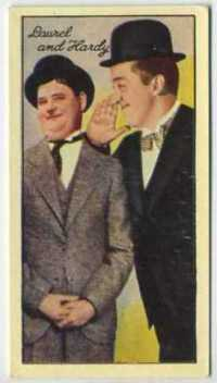 Laurel and Hardy 1935 Carreras Film Stars Tobacco Card