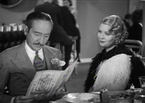 Dorothy Dell with Adolphe Menjou in Little Miss Marker