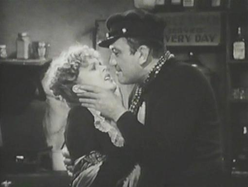 Dorothy Dell with Victor McLaglen in Wharf Angel