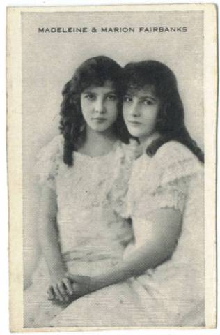 Madeline and Marion Fairbanks 1910s Trading Card