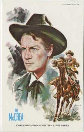 Joel McCrea 1973 John Ford Cowboy Kings Postcard Version