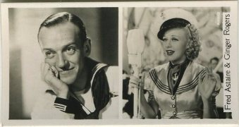 Fred Astaire and Ginger Rogers Tobacco Card