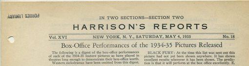 Harrison's Reports May 4 1935 masthead