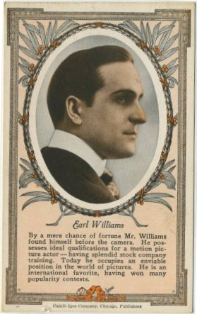 Earle Williams 1916 Cahill-Igoe Trading Card with Theater Schedule