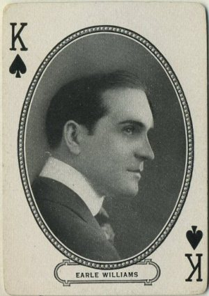 Earle Williams 1916 MJ Moriarty Playing Card