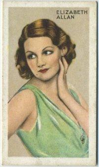 Elizabeth Allan 1934 Gallaher Tobacco Card