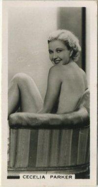 Cecilia Parker 1938 Carreras Film Stars Tobacco Card