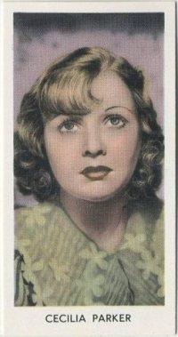 Cecilia Parker 1939 Abdulla Tobacco Card