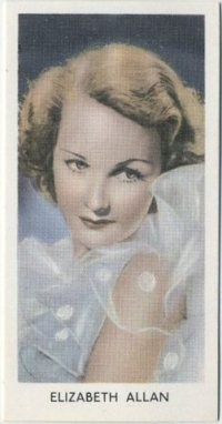 Elizabeth Allan 1939 Abdulla Tobacco Card