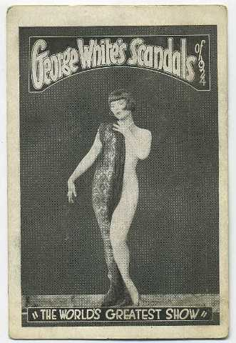 Louise Brooks George White's Scandals of 1924 Permit Card