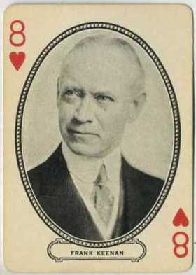 Frank Keenan circa 1916 MJ Moriarty Playing Card