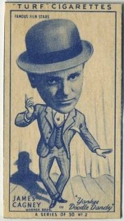 James Cagney 1949 Turf Cigarettes Tobacco Card