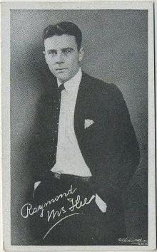 Raymond McKee 1917 Kromo Gravure Trading Card