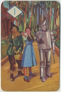 Wizard of Oz Game Card