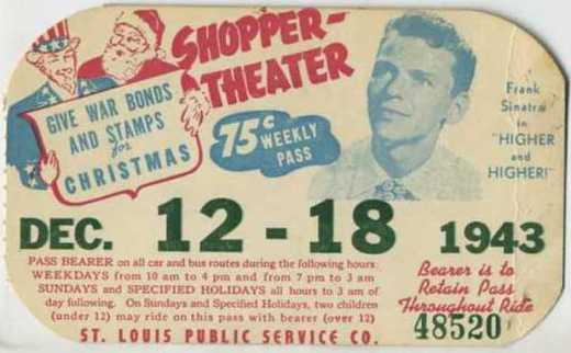 """December 12-18, 1943 - Frank Sinatra in """"Higher and Higher!"""" - Sold April 2, 1943 for $42.00* (International buyer also paid additional shipping charge)"""