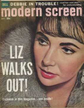 Modern Screen Magazine September 1960 - Liz Walks Out!