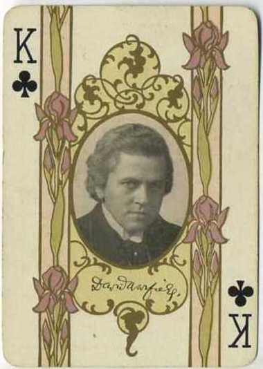 David Warfield - 1908 Playing Card