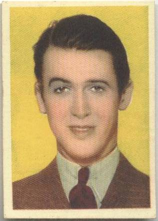 Jimmy Stewart 1930's Editorial Bruguera paper stock card from Spain