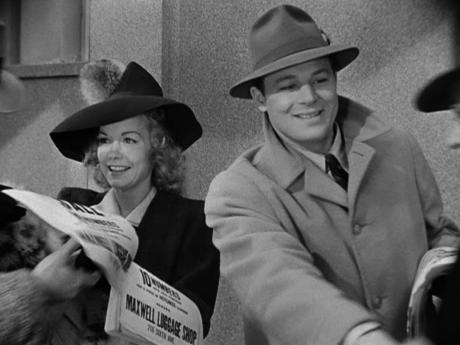Jane Wyman and Jack Carson jumpstart sales