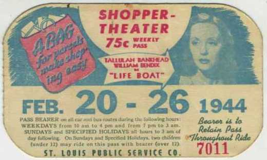 "February 20-26, 1944 - Tallulah Bankhead in ""Lifeboat"" - Sold April 2, 2009 for $25.99"