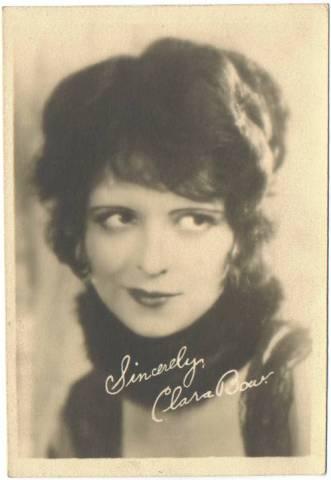 Clara Bow on a 1920's 5x7 Movie Fan Photo