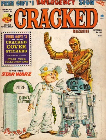 Cracked Magazine, November 1977, courtesy The Star Wars magazines encyclopedia (Hey, I had this one!)