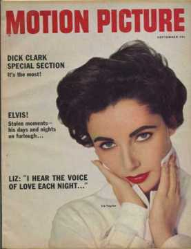 September 1958 Motion Picture Magazine - Liz: I Hear the Voice of Love Every Night ...