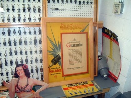 One of Joe's recently framed Spark Plug signs from 1928