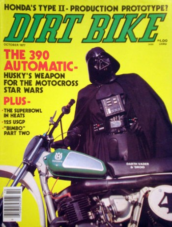 Dirt Bike Magazine, October 1977, courtesy of The Star Wars magazines encyclopedia