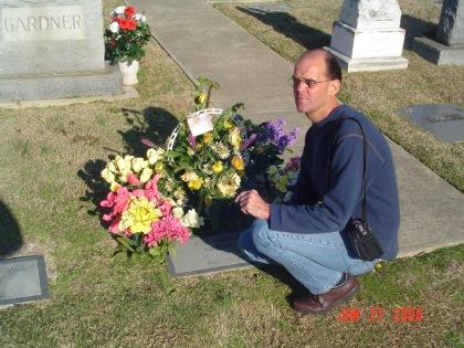Charles Triplett at Ava Gardner's grave site