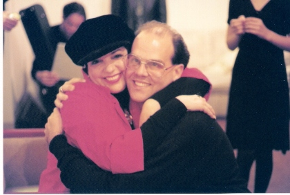 Charles Triplett with Liza Minnelli in 1998