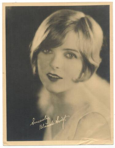 Blanche Sweet on a 1920's 5x7 Fan Photo