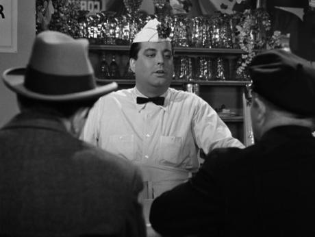Behind the counter it's Jackie Gleason