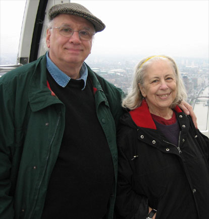 Photo of Rudy Franchi and his wife Barbara in London, December 2005