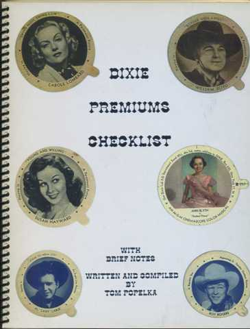 Dixie Premiums Checklist by Tom Popelka