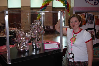 Hillary DePiano at the 2008 MLP Fair, a My Little Pony collectors convention.