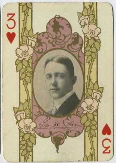 George M. Cohan would move to the screen for 3 appearances in 1917-18 - 1908 Playing Card