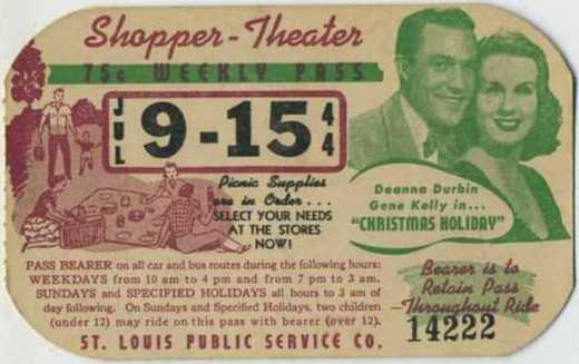 """July 9-15 1944 - Gene Kelly and Deanna Durbin in """"Christmas Holiday"""" - Sold April 2, 2009 - $119.49"""