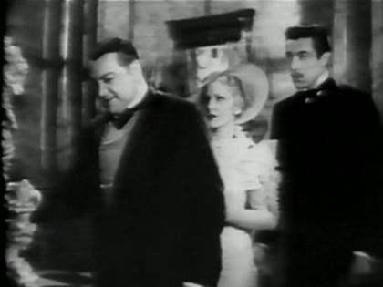 Edward Arnold, Jean Arthur and Cesar Romero in Diamond Jim