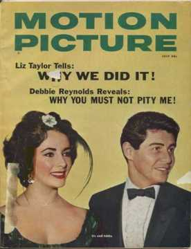 The first of 3 magazines each dated July 1959, this one Motion Picture Magazine - Liz Taylor Tells: Why We Did It! with story underneath Debbie Reynolds Reveals: Why You Must Not Pity Me!