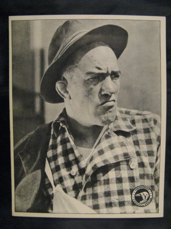"Bull Montana featured on a 5.75"" X 7.5"" 1920's Galeria Cinematografica premium photo card from Cuba"