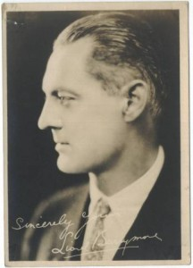 Lionel Barrymore 1920s 5x7 Fan Photo