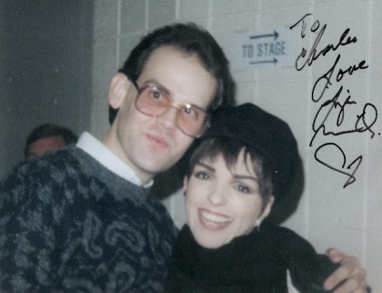 Another shot of Charles Triplett with Liza Minnelli, this one from 1987 and signed.