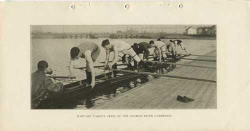 Harvard Varsity Crew on the Charles River, Cambridge