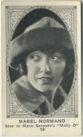 Mabel Normand 1921 E123 American Caramel Trading Card