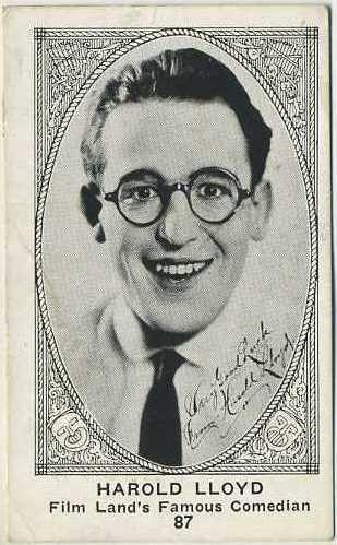 Harold Lloyd 1921 E123 American Caramel Trading Card #87
