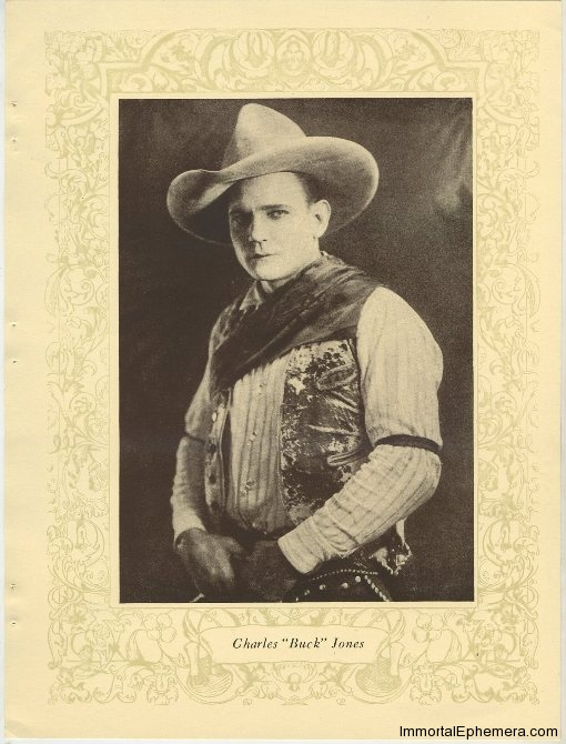 "Charles ""Buck"" Jones printed portrait photo from 1923 Portrait Gallery of Popular Film Folk"